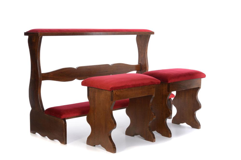 Inginocchiatoio per sposi in legno e sgabelli vendita online