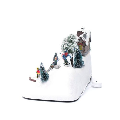 Christmas Ice Skating Rink Decoration: Moving Christmas Scene With Music And Ice Skating