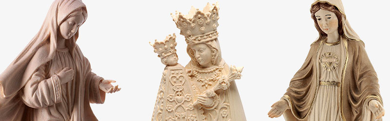Statue in legno naturale