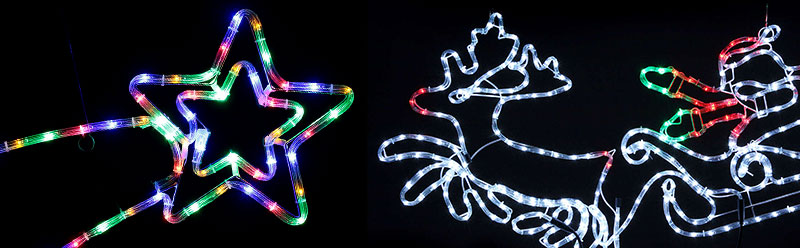 Formy bożonarodzniowe podświetlane