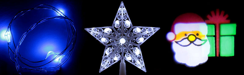 Światełka bożonarodzeniowe na baterie