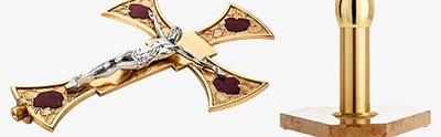 Krzyże ołtarzowo-procesyjne i podstawy do krzyży