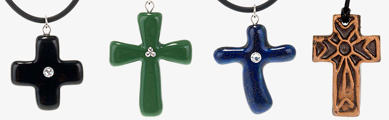 Ceramic cross pendants