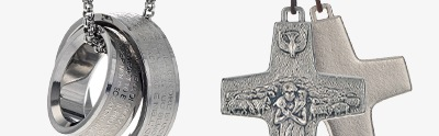 Pendants, crosses, medals, necklaces