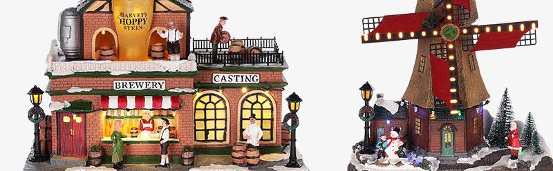 5d5fda1c939 Pueblos navideños en miniatura