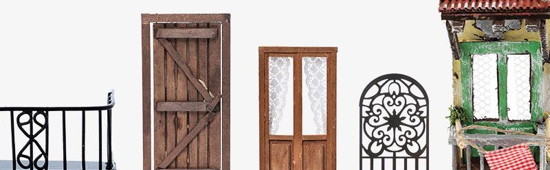 Grille de fenêtres, portes, balcons