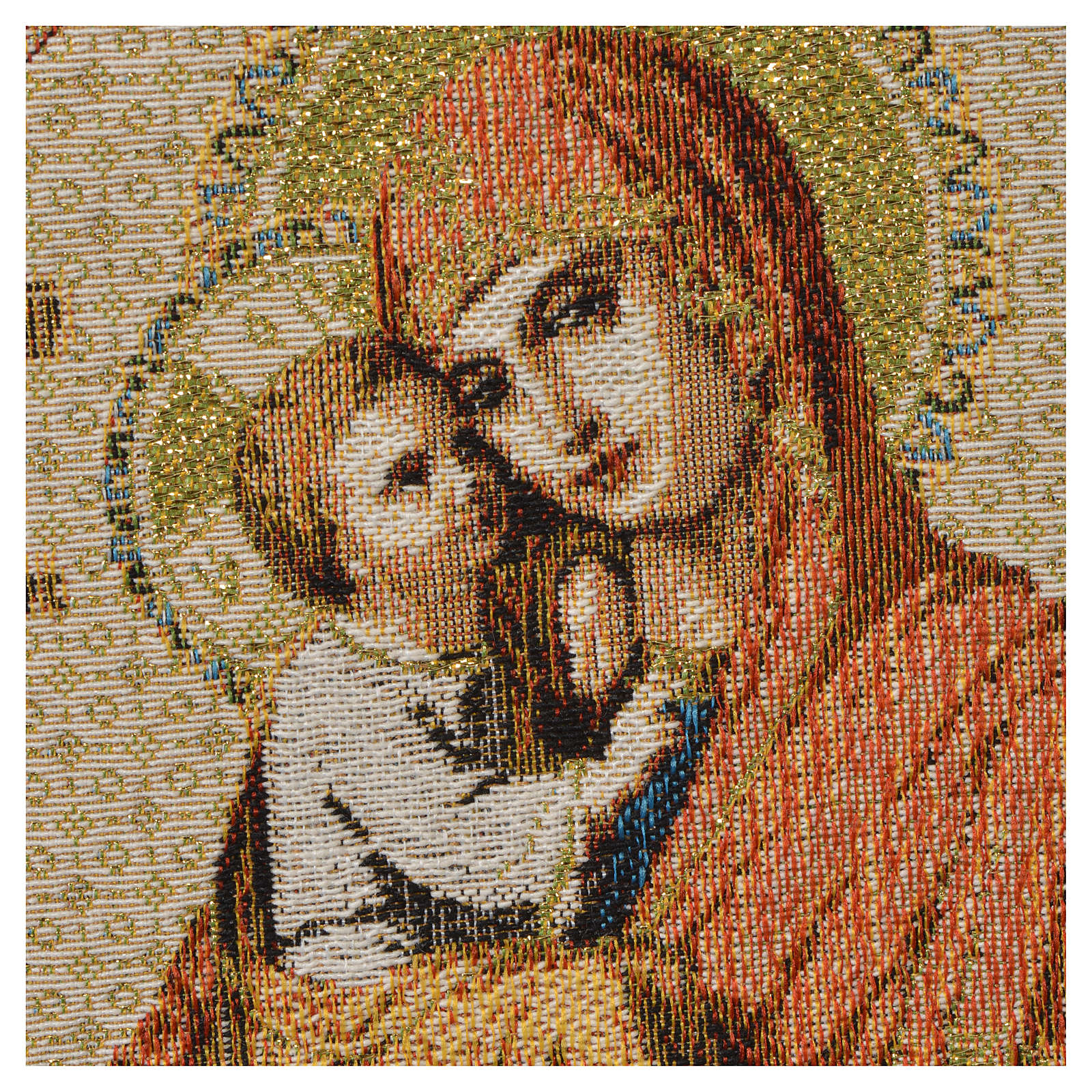 Tapestry Our Lady and baby, white background 32x23cm 3