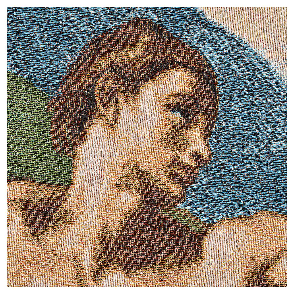 Tapiz con la Creación de Adán 72x130cm 3