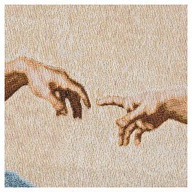 Tapiz con la Creación de Adán 72x130cm s7