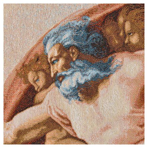 Tapiz con la Creación de Adán 72x130cm 6