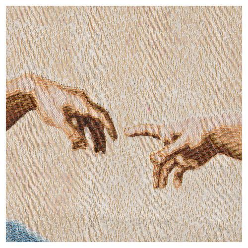 Tapiz con la Creación de Adán 72x130cm 7
