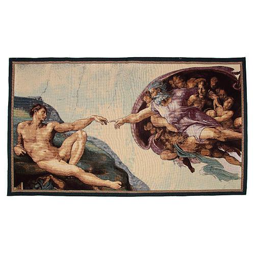 Tapiz con la Creación de Adán 72x130cm 1