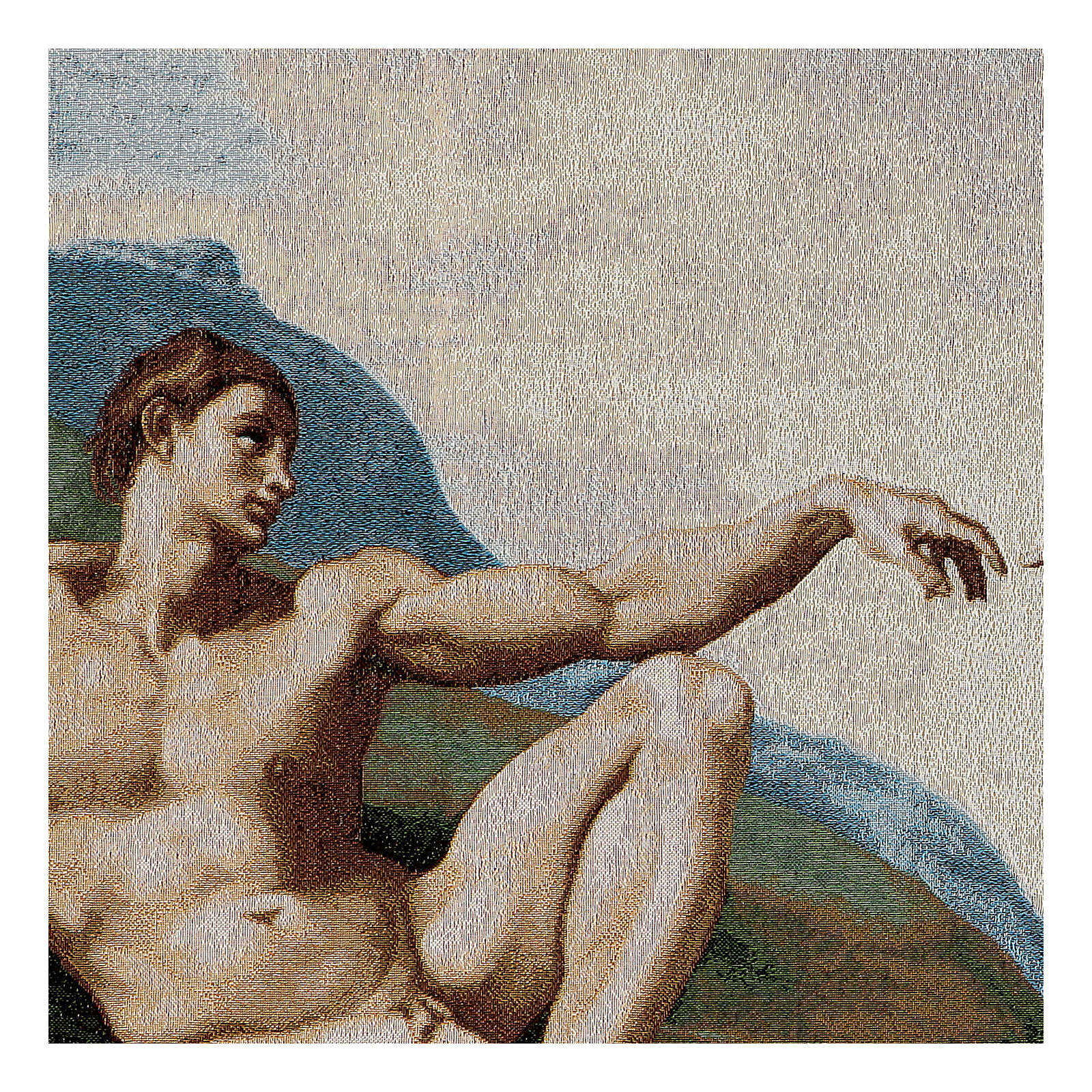 Tapisserie La création de Adam 130x72cm 3