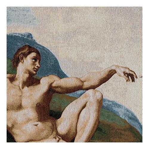 Tapisserie La création de Adam 130x72cm 2