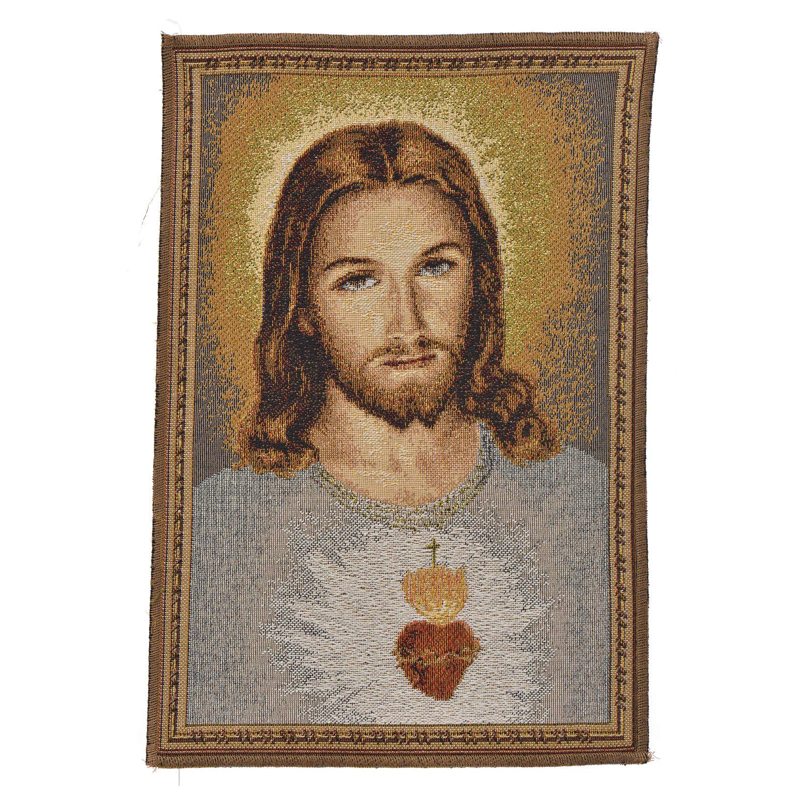 Tapisserie Sacré Coeur de Jésus 23x32cm 3