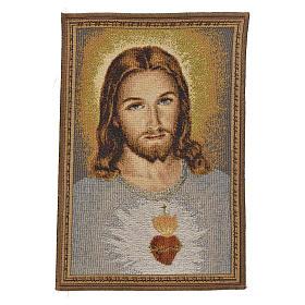 Tapisserie Sacré Coeur de Jésus 23x32cm s1