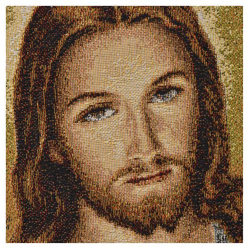 Tapisserie Sacré Coeur de Jésus 23x32cm 2