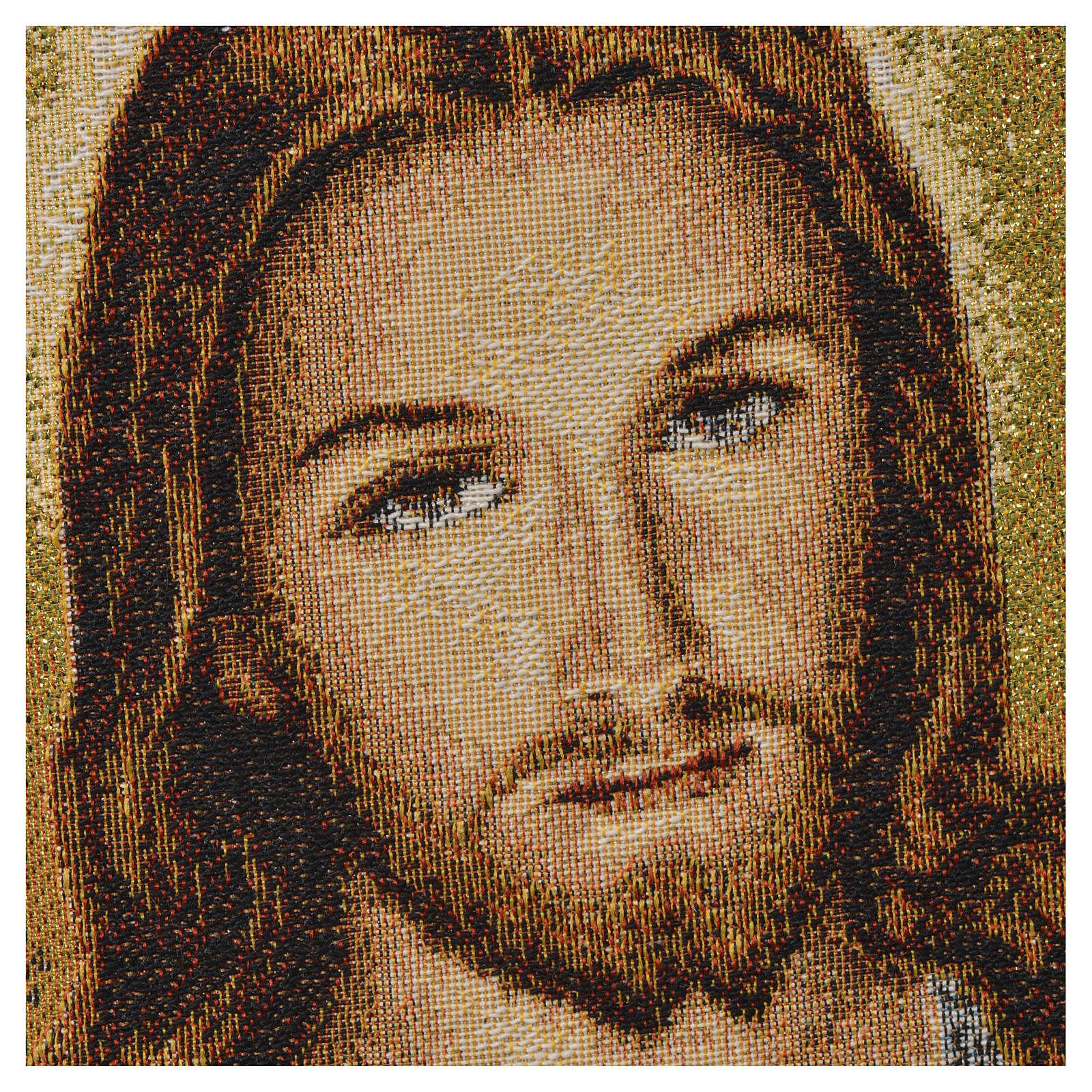 Arazzo Sacro Cuore di Gesù 32x23 cm 3