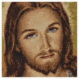 Arazzo Sacro Cuore di Gesù 32x23 cm s2