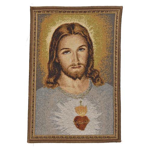 Arazzo Sacro Cuore di Gesù 32x23 cm 1