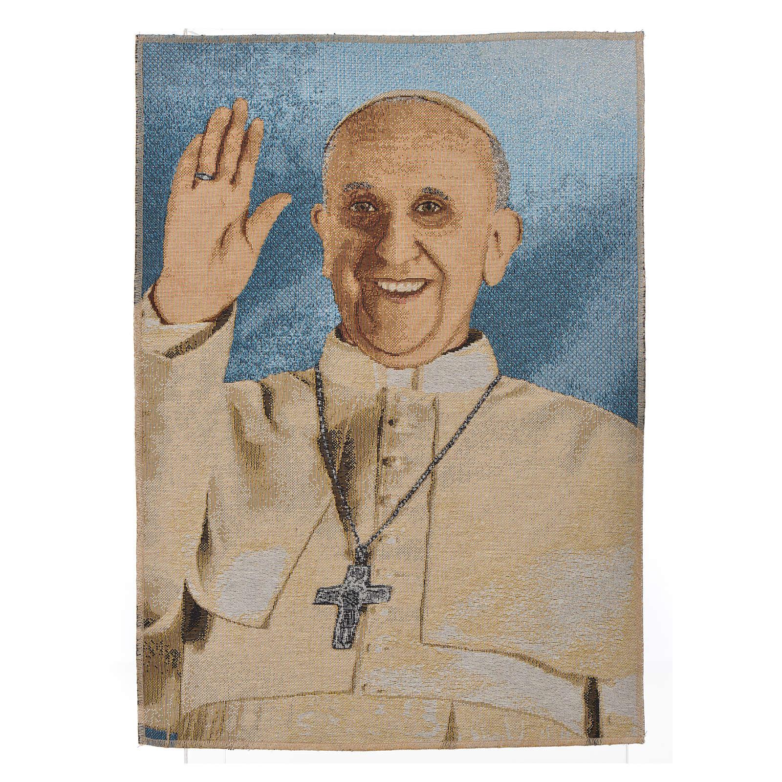 Gobelin Papież Franciszek 47x34 cm 3