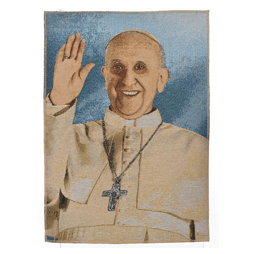 Tapestry Pope Francis 47x34cm 1