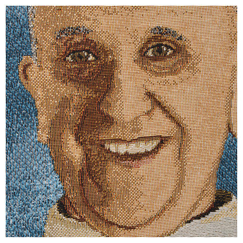 Tapestry Pope Francis 47x34cm 2