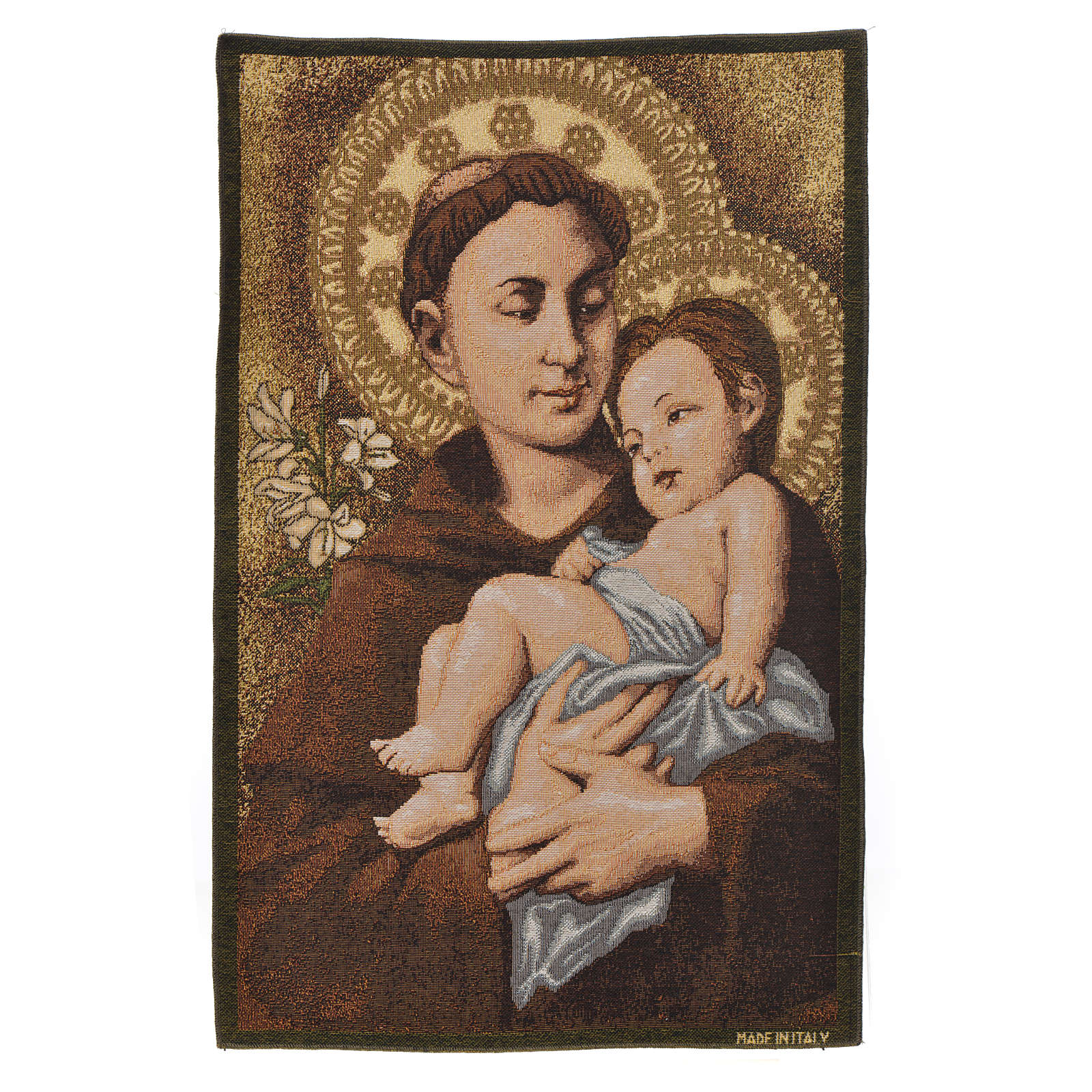Tapestry Saint Anthony of Padua 50x35cm 3