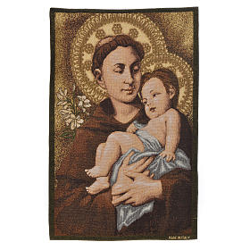 Tapiz con San Antonio de Padua 50x35cm