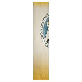STOCK Logo Jubileo de la Misericordia sobre tejido 135x300 cm estampa LATÍN s2