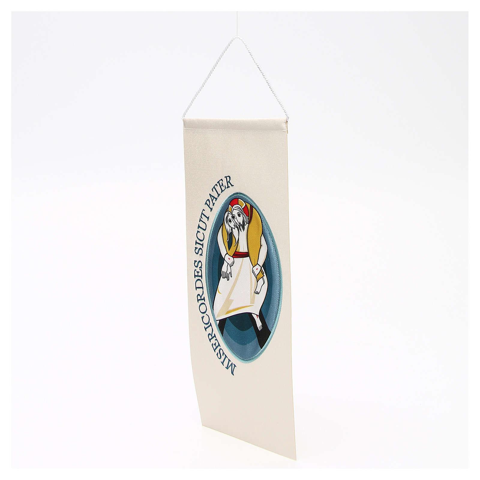 STOCK Estendarte Símbolo Jubileu bordado aplicado 18x40 cm 3
