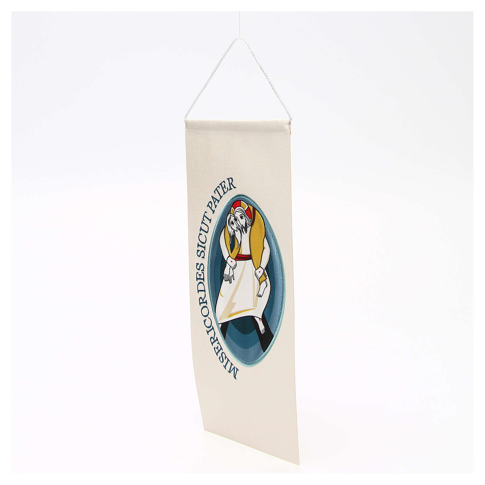 STOCK Banner Logo of Jubilee of Mercy, applied embroidery 18x40cm 3