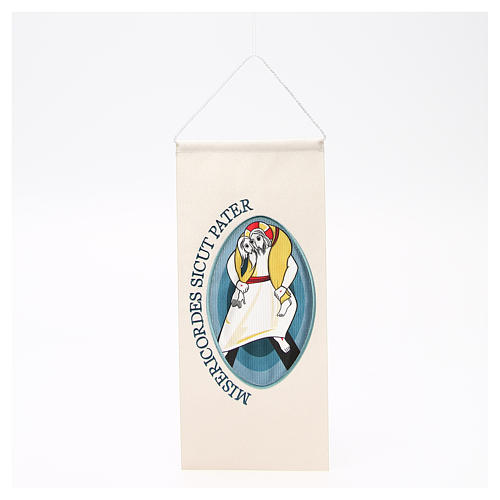 STOCK Banner Logo of Jubilee of Mercy, applied embroidery 18x40cm 1