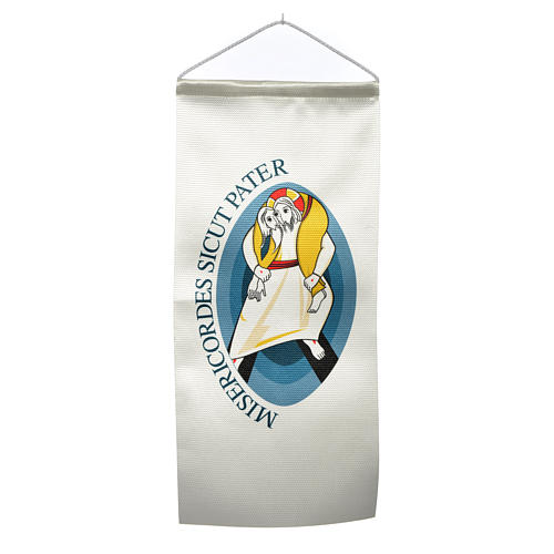 STOCK Flags with Logo of Jubilee of Mercy 18x40 cm 1