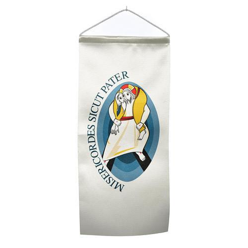 STOCK Bandierina Logo Giubileo stampa 18x40 1