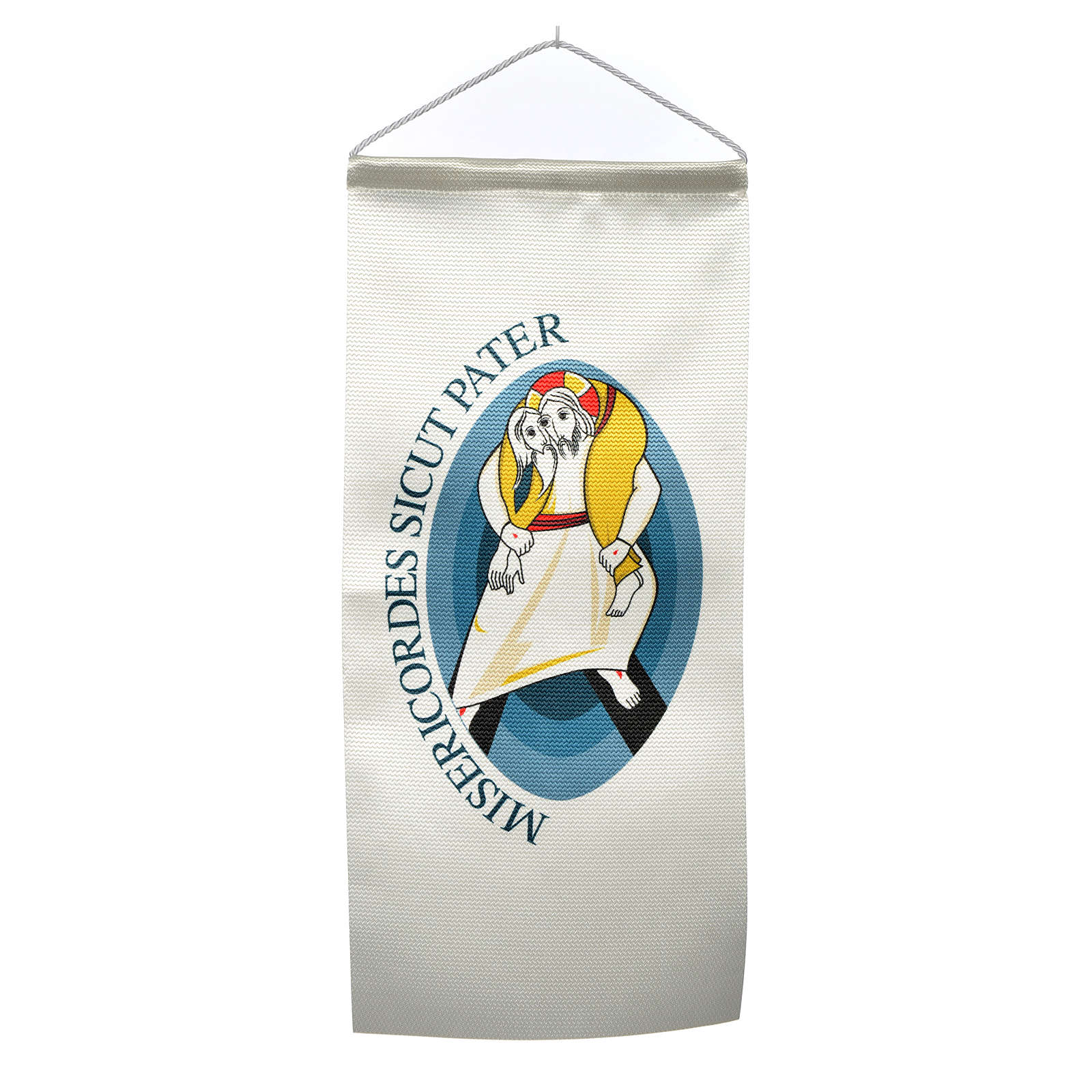 STOCK Flags with Logo of Jubilee of Mercy 18x40 cm 3