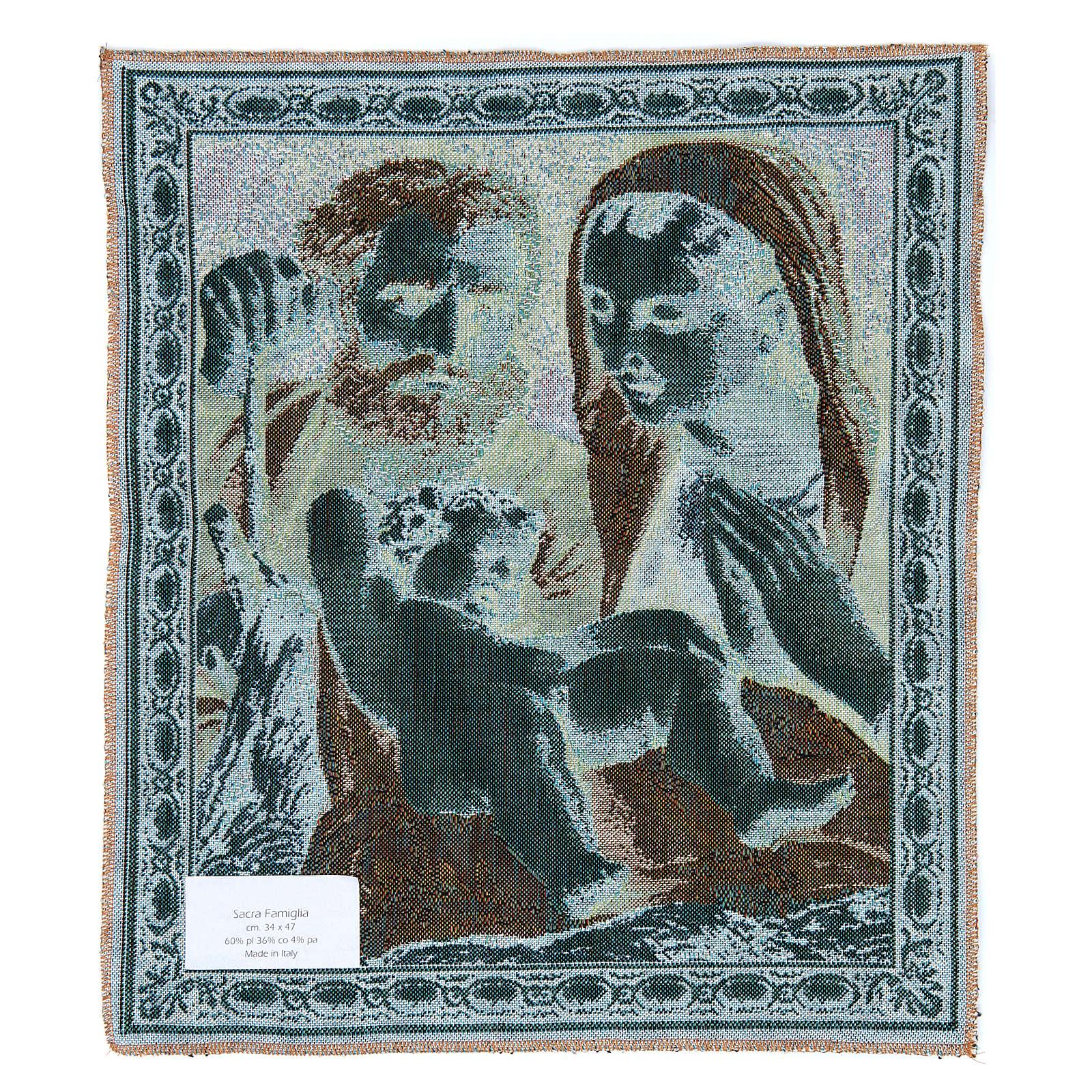 Arazzo Sacra Famiglia del Carracci 41x34 cm 3