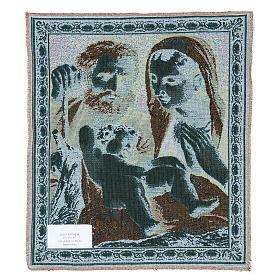 Arazzo Sacra Famiglia del Carracci 41x34 cm s2