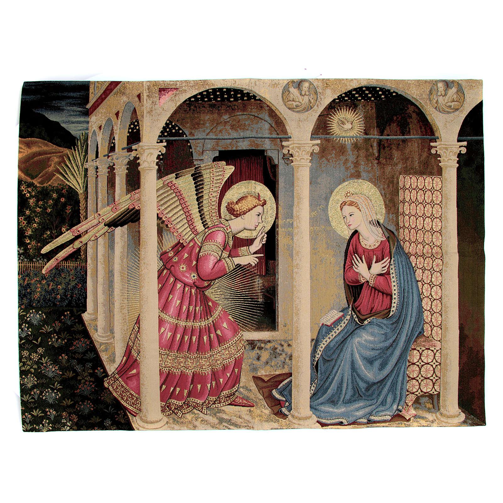 Arazzo Annunciazione del Beato Angelico 95x125 cm 3