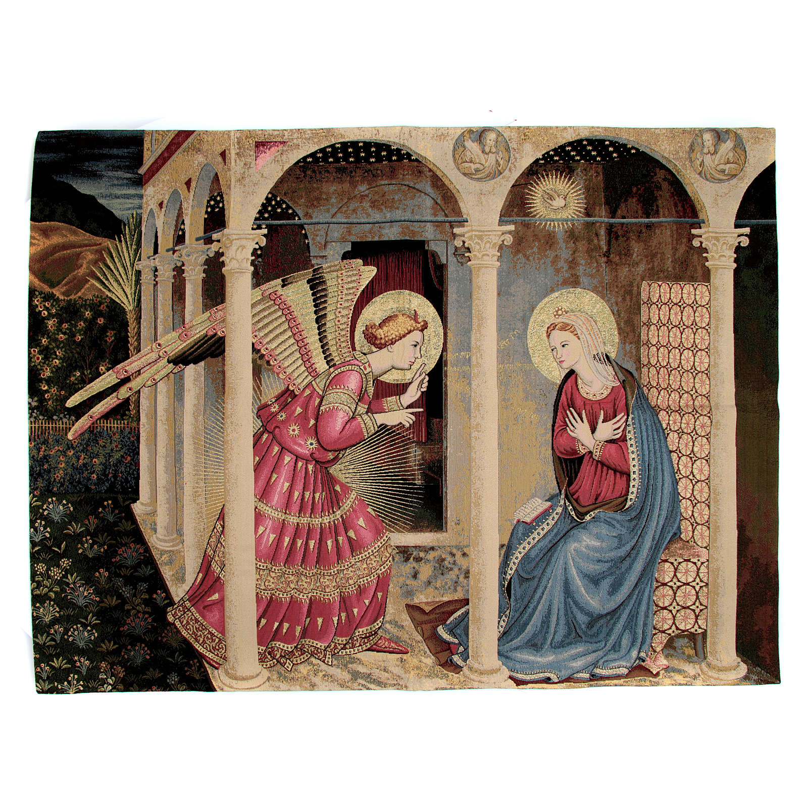 Annunciation of Fra Angelico Tapestry 95x125cm 3