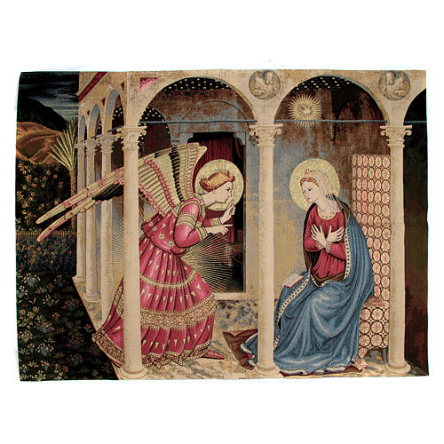Annunciation of Fra Angelico Tapestry 95x125cm 1