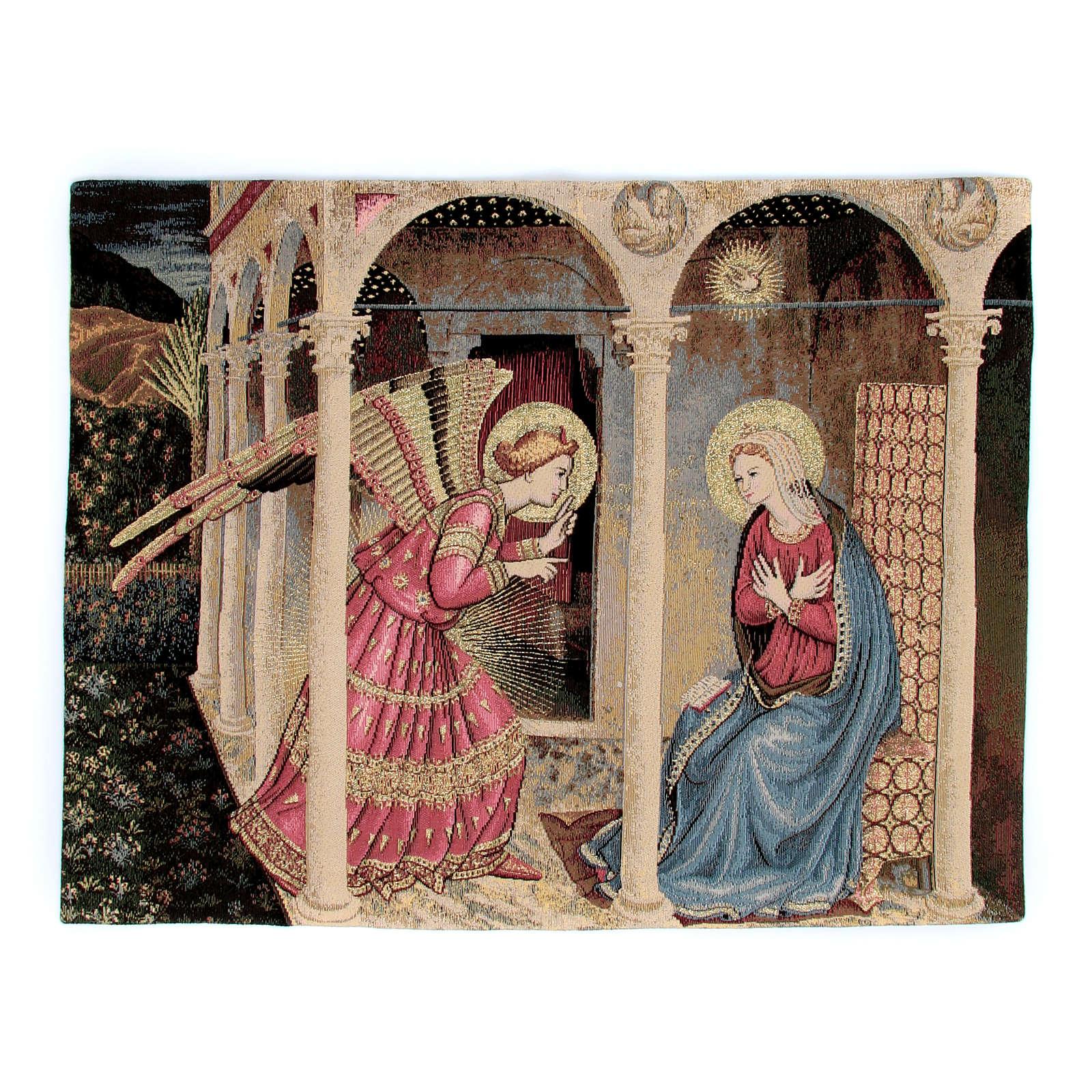 Arazzo Annunciazione del Beato Angelico 50x60 cm 3