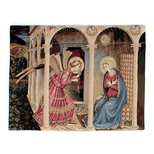 Arazzo Annunciazione del Beato Angelico 50x60 cm 1
