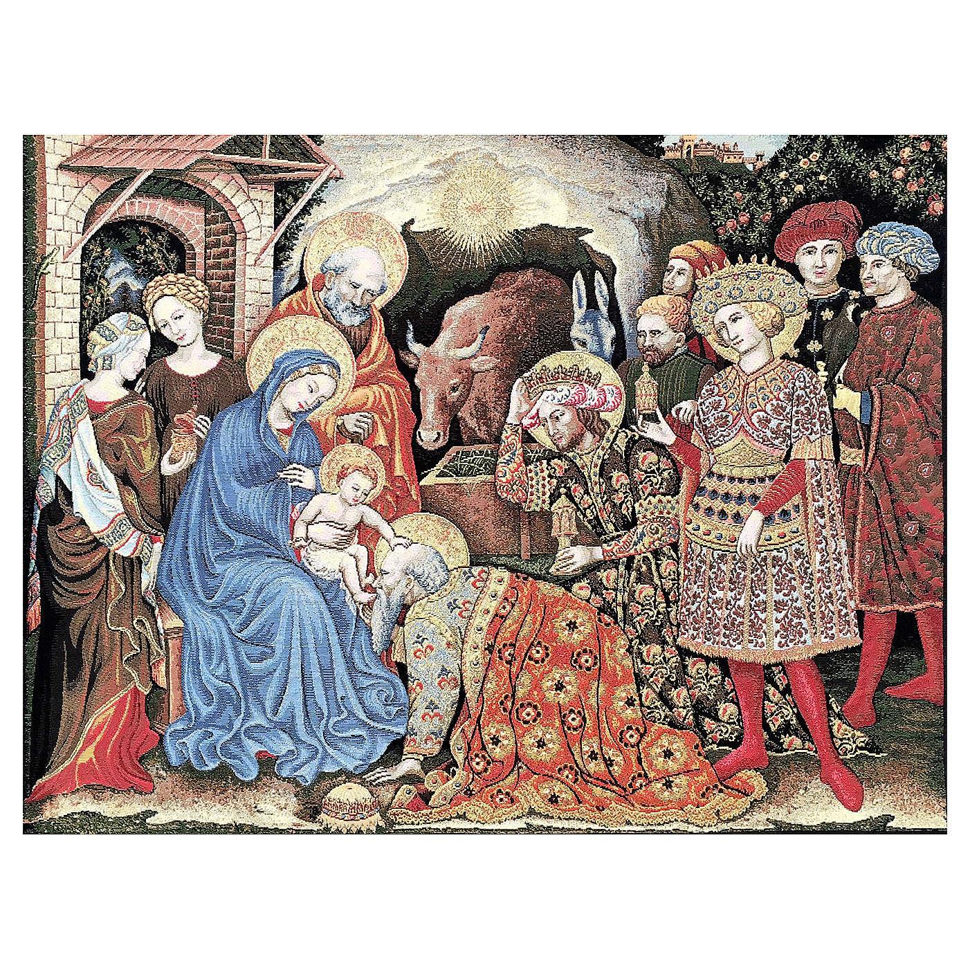 Arazzo Adorazione dei Magi di Gentile da Fabriano 105x130 cm 3