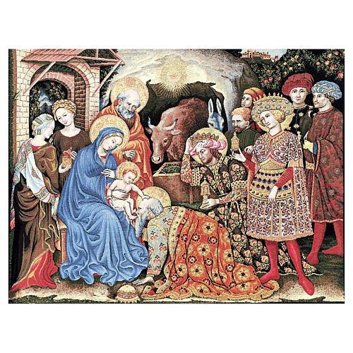 Arazzo Adorazione dei Magi di Gentile da Fabriano 105x130 cm 1