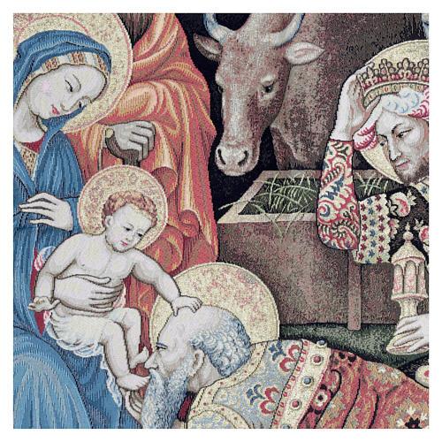 Arazzo Adorazione dei Magi di Gentile da Fabriano 105x130 cm 2