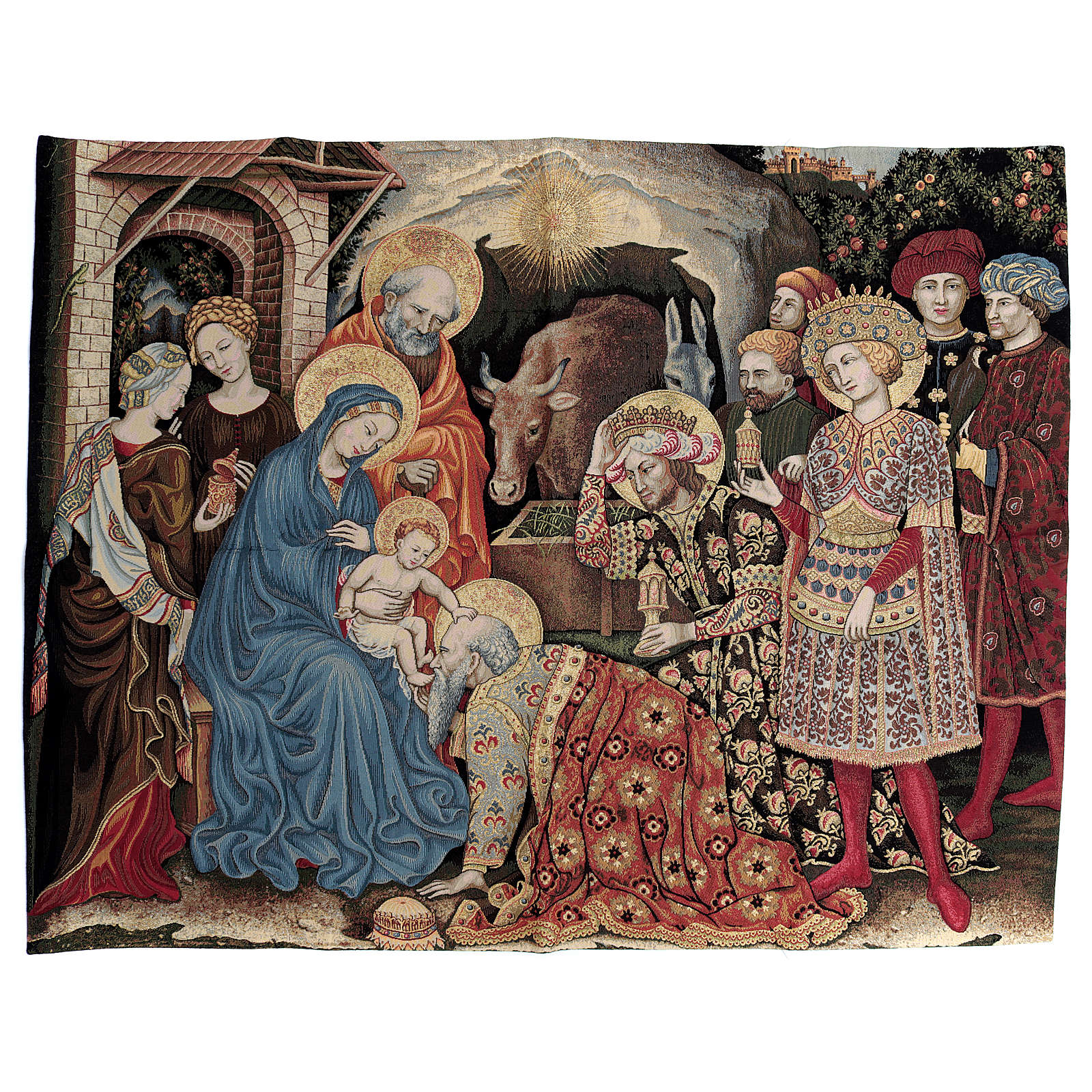 Adoration of the Magi by Gentile da Fabriano Tapestry 105x130cm 3