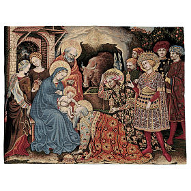 Tapiz Adoración de los Reyes Magos de Gentile da Fabriano 60 x 80 cm s1