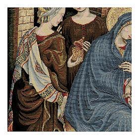 Arazzo Adorazione dei Magi di Gentile da Fabriano 60x80 cm s2