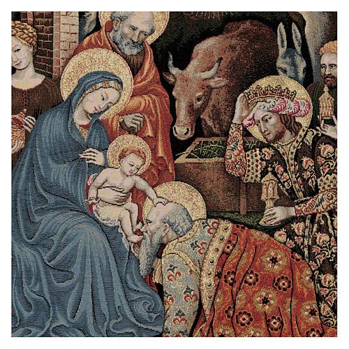 Arazzo Adorazione dei Magi di Gentile da Fabriano 60x80 cm 2